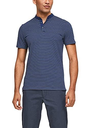 s.Oliver Herren 130.10.105.13.130.2103457 Polohemd, Dark Blue Stripes, XL
