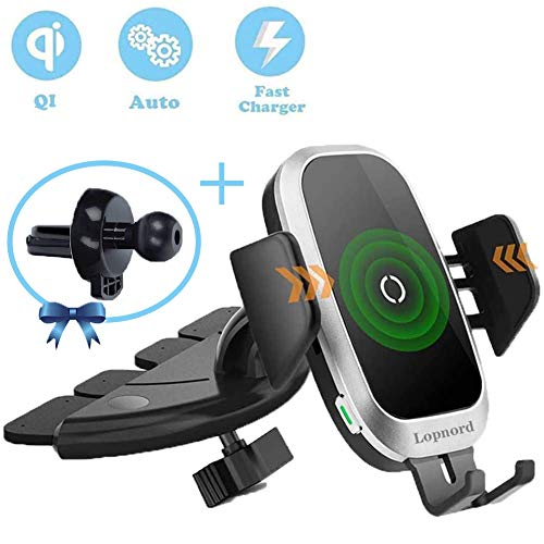 Wireless Car Charger CD Mount, A...