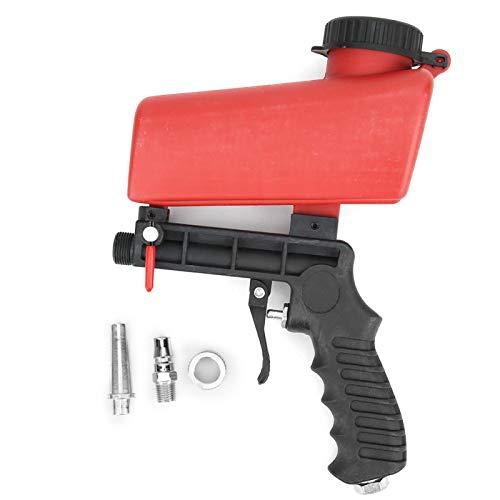 Pistola neumática de chorro de arena, máquina de chorro de arena Pistola de aire de mano para arena, acero negro, jade, esmeril, cuentas de espinaca