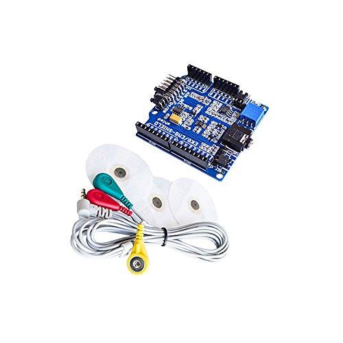 EKG/EKG/EMG Shield für Arduino mit Kabel und Elektroden