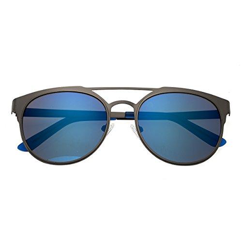 Breed Mensa Titanium Sonnenbrille, Mehrere (Gunmetal/Blue), Medium