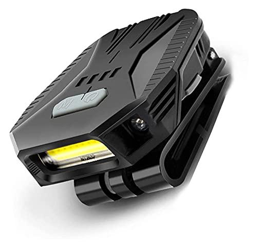 HLD linternas Frontales USB USB Faro Recargable Portátil Clip-on Tapa lámpara Linterna montada en la Cabeza Adecuada para Camping Casco de Trabajo Casco Ciclismo Travel Regalo linternas Frontales USB