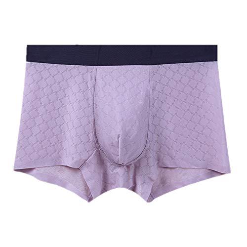Nobrand Herren Unterwäsche Sommer Mid-Taille Boxershorts atmungsaktiv und bequem Gr. X-Large, violett