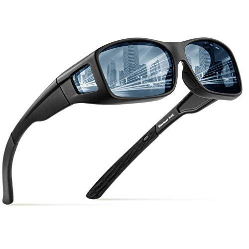 Bloomoak Fit über Sonnenbrillen, Polarisierte Photochrome Abnutzung über Sonnenbrillen, TR90-Material, UV400-Schutz gegen Blendung für Männer Frauen