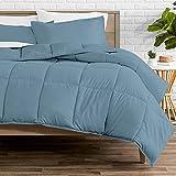 Bare Home Comforter Set - Twin/Twin Extra Long - Goose Down Alternative - Ultra-Soft - Premium 1800 Series - All Season Warmth (Twin/Twin XL, Coronet Blue)