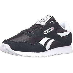 Reebok Men's Royal Nylon Walking Shoe, Black/White, 11