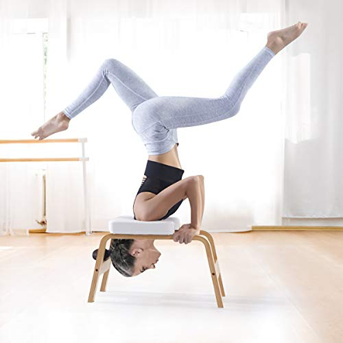 COSTWAY Sgabello Headstand Yoga Sgabello Panca Poggiatesta Yoga Headstand Chair, Panca per Esercizi