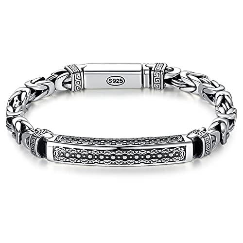 Coolga Nueva joyería de plata pulsera de los hombres personalidad paz patrón retro hipster clave patrón hebilla regalo regalo de graduación