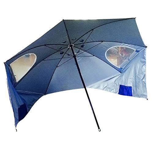 Wsaman Tente De Jardin De Jardin, Parasol De Parasols De 2,4 M Parasol À Baldaquin À Baldaquin avec Gaze Étanche UV Résistant Pliable pour Patio/Plage/Piscine/Auvent Extérieure