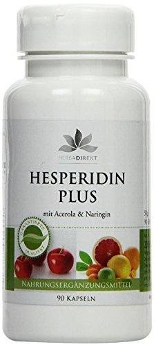 Herbadirekt Hesperidin plus mit Acerola und Naringin, 90 Kapseln, vegi, 1er Pack (1 x 50 g)