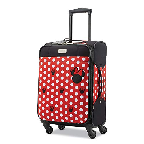 American Tourister Disney Softside Luggage with Spinner Wheels, Minnie Mouse Dots, Carry-On 21-Inch