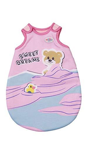 Zapf Creation 829967 BABY born Little Schlafsack 36 cm - rosa Puppenschlafsack mit Klettverschlüssen zum einfachen öffnen und schließen
