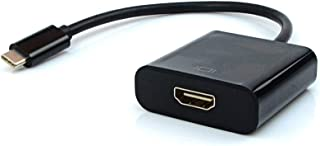Cabo Adptador HDMI Fêmea para USB-C Macho PlusCable Preto ADP-303BK - Contém USB 3.1 Suporta Resoluções 4K Compatível com ...