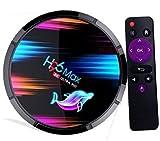 Android 9.0 TV Box 4GB RAM 64GB ROM H96 Max Smart TV Box Amlogic S905X3 Quad-core 8K/1000M LAN/1080P/USB 3.0/H.265/WIFI 2.4G/5G Android TV Box Media Player