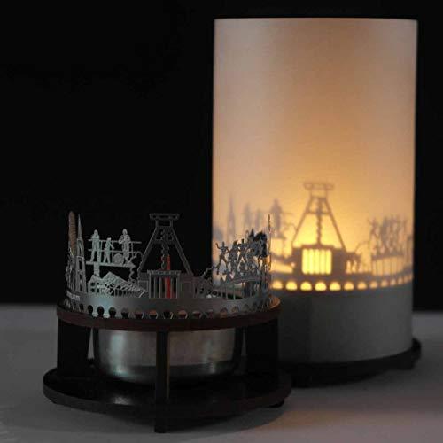 13gramm Bochum-Skyline Windlicht Schattenspiel Premium Geschenk-Box Souvenir, inkl. Kerzenhalter, Kerze, Projektionsschirm und Teelicht