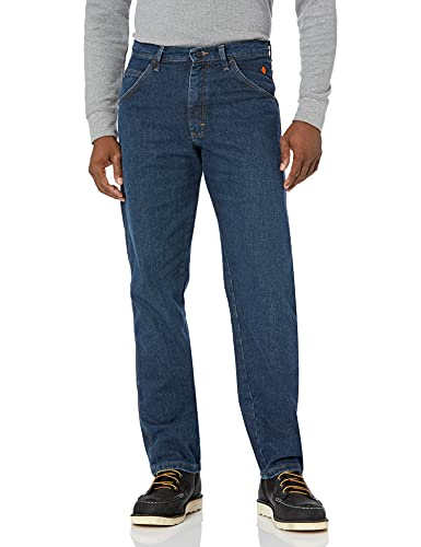 Wrangler Riggs Workwear mens Fr Flame Resistant Advanced Comfort Relaxed Fit Jean Work Utility Pants, Midstone, 40W x 32L US (Riggs Utility Jeans)