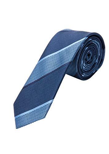 s.Oliver 02.899.91.7062 Krawatte Corbata, Azul (Blue Stripes 58g2), Talla Única (talla del fabricante: 1) para Hombre