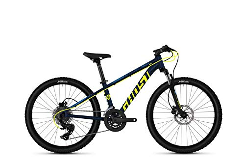 Ghost Kato D4.4 AL U 24R Kinder & Jugend Mountain Bike 2020 (32cm, Night Blue/Neon Yellow/Riot Blue)