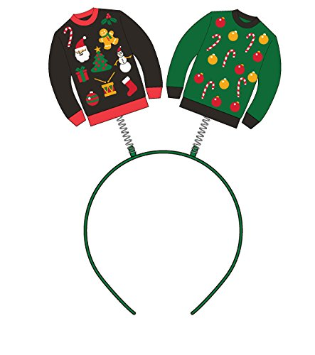 Forum Novelties womens Forum Ugly Christmas Sweater Headband Boppers Party Supplies, Multi, One Size US