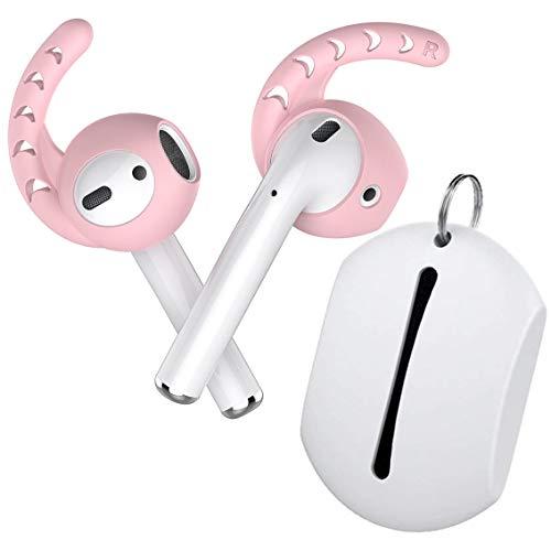 innoGadgets EarPlugs 2-Set und Hülle kompatibel mit AirPods | Aufsatz kompatibel mit AirPods - Unerschütterlicher Halt | Geschmeidiges Silikon - Ideal für Sport [Kopfhörer Nicht enthalten] | Pink