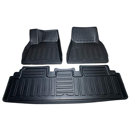 Anti-Slip Rubber Car Mats 3 Piece Left Hand Drive Dedicated Foot Pads Fully Surrounded By 3D Foot Pads Waterproof Accessories