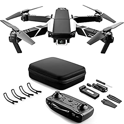 VAIPI Foldable Drone With 4k HD Dual Camera For Adults, RC Quadcopter With Auto Return Home, Altitude Hold and One Key Start, Easy For Beginners With Tap Fly, Gesture Control and Headless Mode by Vsdfjosdf