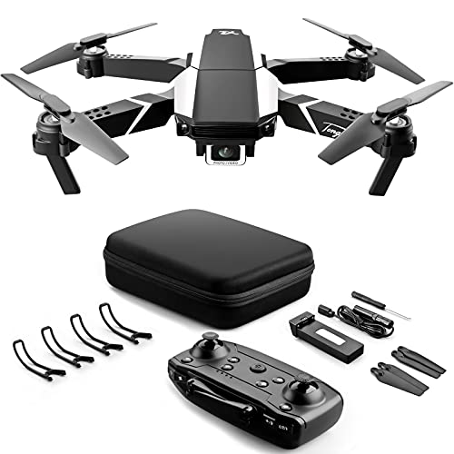 VAIPI Foldable Drone With 4k HD Dual Camera For Adults, RC Quadcopter With Auto Return Home, Altitude Hold and One Key Start Speed Adjustment, Easy For Beginners With Tap Fly, Gesture Control and Headless Mode