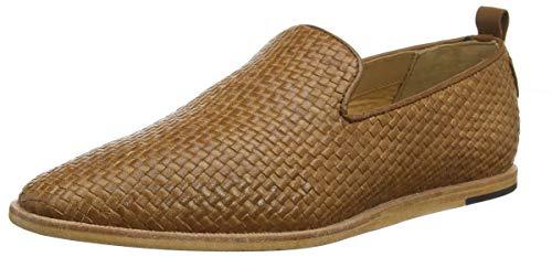H by Hudson Ipanema Leather Weave, Mocasines para Hombre, Marrón (Tan 24), 44 EU