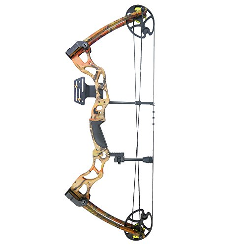 iGlow 40-70 lbs Autumn Camouflage Camo Archery Hunting Compound Bow 175 150 60 55 30 lb Crossbow
