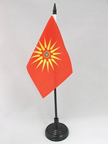 AZ FLAG Bandera de Mesa de Macedonia ETNICA 15x10cm - BANDERINA de DESPACHO Macedonia 10 x 15 cm