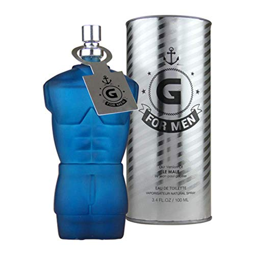 G For Men - Eau De Toilette Spray Perfume, Fragrance For Men- Daywear, Casual Daily Cologne Set with Deluxe Suede Pouch- 3.4 Oz Bottle- Ideal EDT Beauty Gift for Birthday, Anniversary