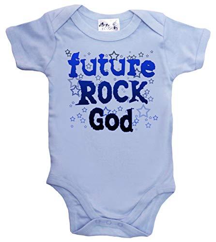 Dirty Fingers Future Rock God, body bébé - Bleu - XXXS