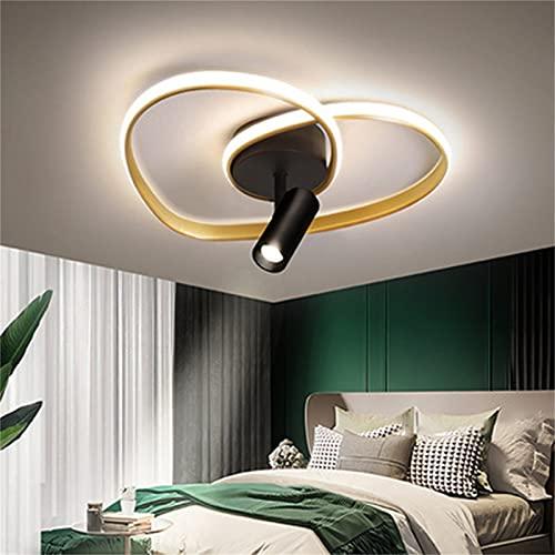 Luces de techo LED de atenuación continua con focos, iluminación interior acrílica moderna Lámparas de techo LED para la sala de estar del dormitorio,46+5w