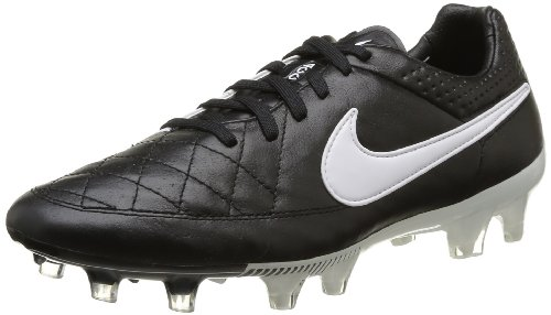 Nike, Tiempo Legend V FG, Scarpe Sportive, Uomo, Multicolore (Black/White-Black), 41
