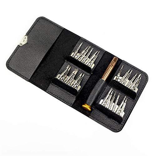 Portátil 25 en 1 Destornillador Billetera Magnética Caja de cuero Destornillador Conjunto de precisión Juego de herramientas de reparación para teléfonos celulares Gafas Reloj Para reparación de reloj