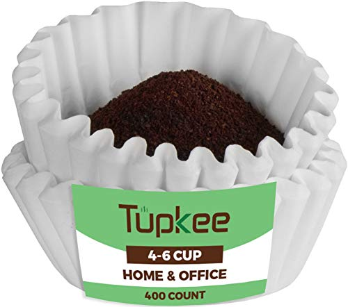 Tupkee Coffee Filters 4-6 Cups attach with Junior Basket Style and Chlorine Free Coffee Filter