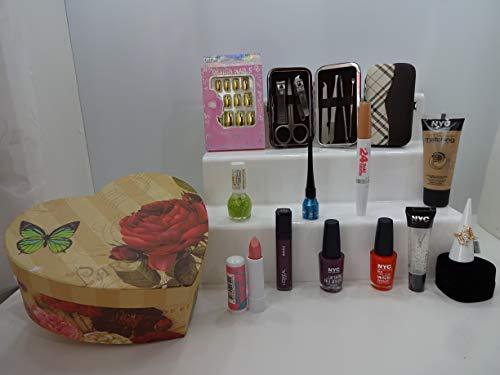 De Luxe Ensemble cadeau pour elle, Mix marques, ongles manucure, outil de maquillage en forme de cœur Boîte cadeau * * Édition limitée * * Offre spéciale. 064.