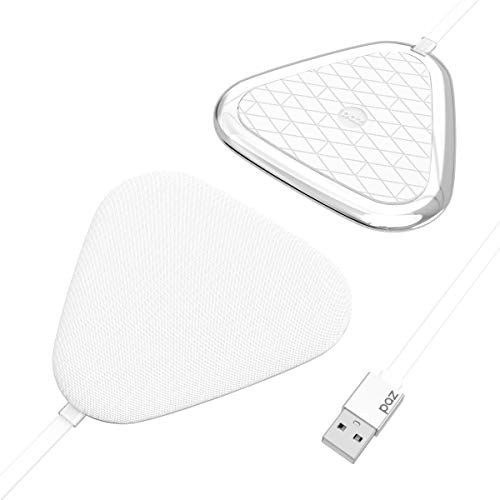 PAZ Vivid [Qi-Certified] Wireless Charging Pad, Charger, for iPhone 12/12 Pro/SE /11/11 Pro/11Pro Max/XS, Galaxy S20+/S10/Note 10, AirPods Pro, White