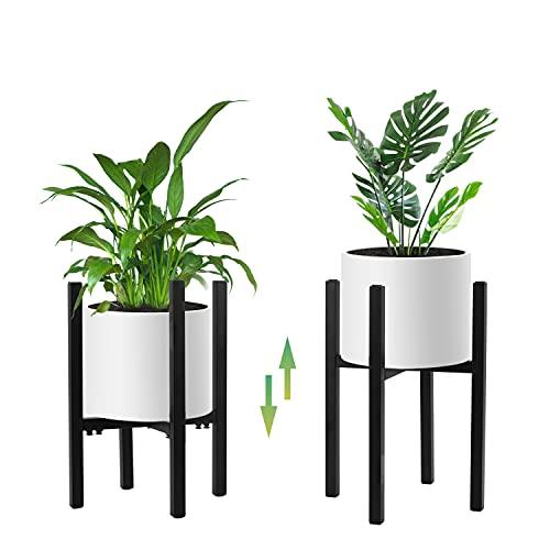STLOVe Soporte para Plantas de Metal Soporte para Plantas Ajustable Soporte para macetas para Balcones de jardín Interiores y Exteriores (Excepto Plantas y macetas) (Soporte de Planta de Metal)