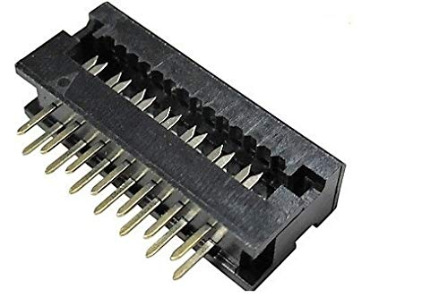 Connectors Pro 25-Pack IDC 2X7 14 Pins Male 2.54mm 0.1 Pitch Dual Row Plugs for Flat Ribbon Cable, FD 14P 25-PK