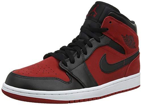 Nike Air Jordan 1 Mid, Scarpe da Basket Uomo, Rosso (Gym Red/Black/White 610), 40.5 EU