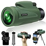 12X50 HD Monocular Telescope with Quick Smartphone Holder, Day & Low Night Vision Monocular for...