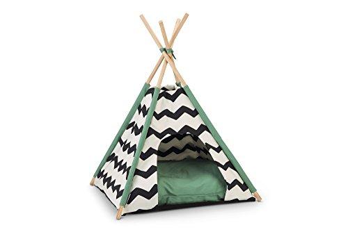 Beeztees BZ TIPI TENT KIONI ZWT/WIT 50X50X70 Beeztees Kioni Tipi Tent - Kattenhuis - Zwart/Wit - 50x50x70 cm, One Size, Multi