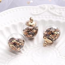 10 Pcs Kleur Glitter Little Star Crystal Glass Ball Hanger Ketting Haar 16Mm Wishing Fles Touw Accessoires: