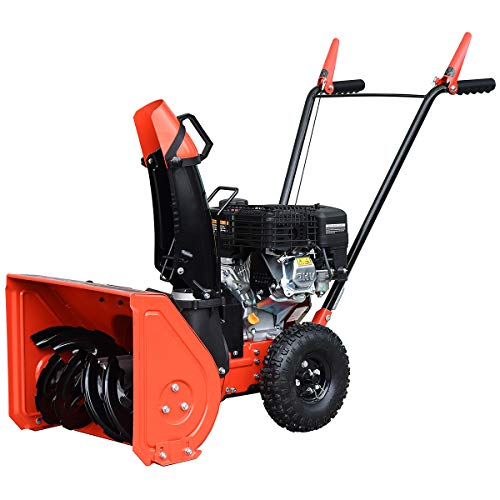 "HUMBEE Tools SB2-20156M Two Stage Gas Snow Thrower with Manual Start Engine, 20"" Wide Intake"
