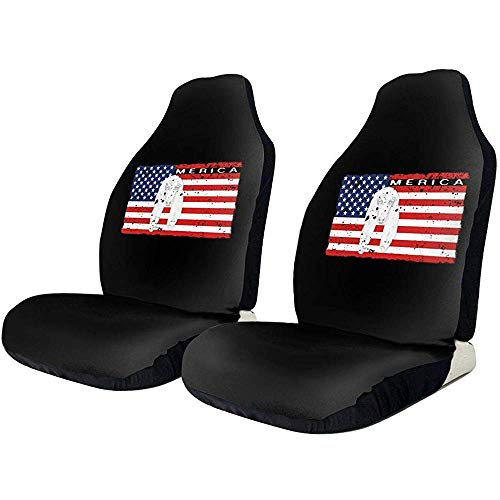 Joe-shop Patriottische Afghaanse Hond Hond USA Vlag Universele 3D Printing Auto Seat Cover Elastische Polyester Stof