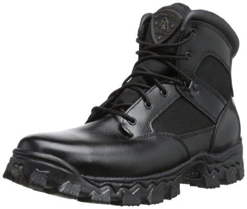 "Rocky mens Alpha Force 6"" Swat Boot Black 4 M US"