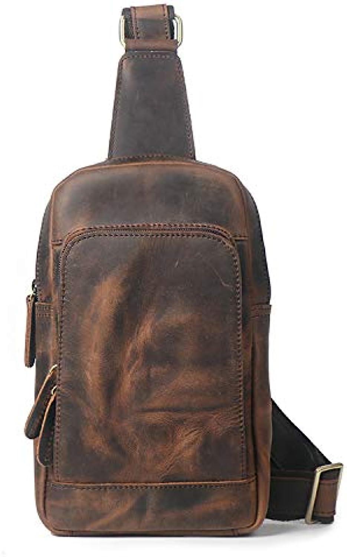 Luxury-uk Casual Sport Umhängetasche Männer Casual Leder Brusttasche Brusttasche Brusttasche Multifunktions Outdoor Sports Umhängetasche Mode Schulter Messenger Rucksack (Kaffee) B07MD5BGRL  Schönes Aussehen fc61c4