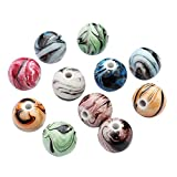 SUPVOX 100pcs Pierre Vrac Perles Rondes Bijoux Charme Bricolage Multicolore Environ 8mm