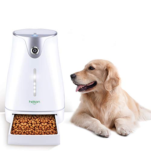 Automatic Pet Feeder Auto Cat Dog Timed Programmable Food Dispenser Feeder for Medium Small Pet Puppy Kitten,HD Camera for Voice and Video Recording,Wi-Fi Enabled App for iPhone and Android